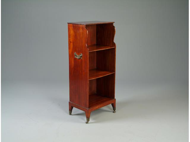 A George III style open dwarf bookcase