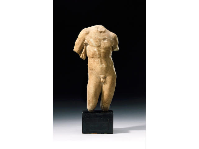 A Roman marble torso - Height 34 cm