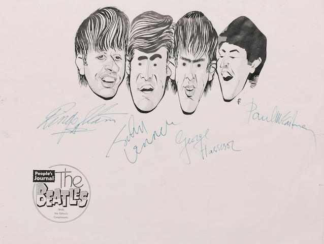 Autographs of The Beatles 1963