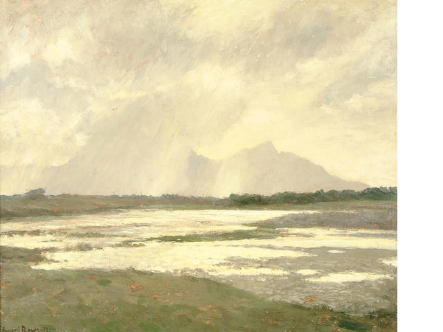 "Edward Roworth, (South African, 1880-1964) ""Sun gleams, Reit Vlei, Cape Flats"", South Africa 60.3 x"