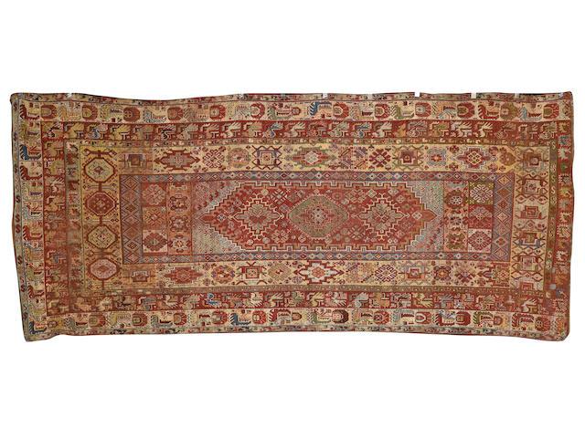 A Rabat carpet, Morocco, mid 19th century, 381 cm. x 161 cm.