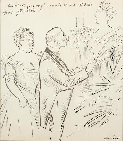 Jean-Louis Forain (1852-1931) Çe n'est pas mal, mais vous n'êtes pas flattée