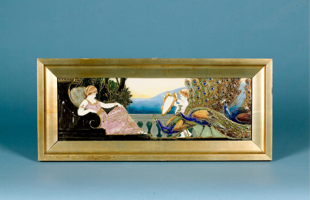 Burslem Items Vanity, An Exceptionally Fine Doulton Burslem Plaque, by C.J. Noke and W.G. Hodkinson,