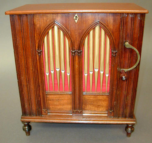 A Salon barrel organ,