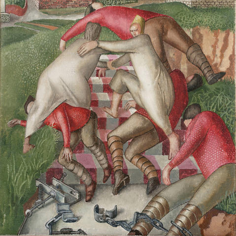 Sir Stanley Spencer R.A. (1891-1959) Saint Peter escaping from prison