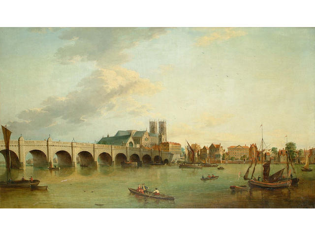 John Paul (British, 19th Century) Lambeth Palace, 78 x 128.4cm.