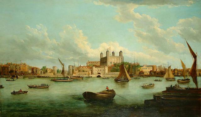 John Paul (British, 19th Century) Westminster Bridge; The Tower of London, each 73.5 x 125.5cm. (2)
