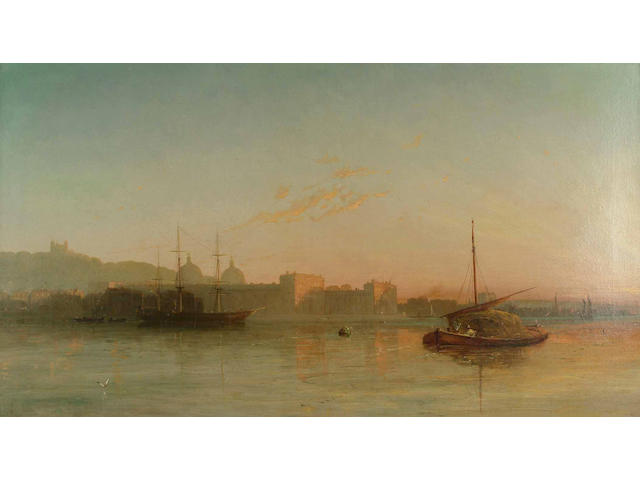English School, 19th Century,  View of Greenwich; and a companion, believed to be Rochester,  each 5