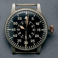 A.Lange & Sohne. A fine and rare german military pilots observation watch Movement No.213140, Berlin 1943