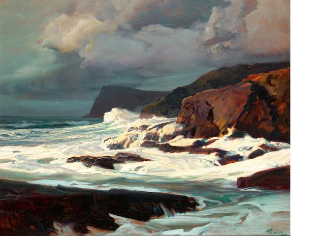 Frederick Judd Waugh (American, 1861-1940) oil on board 63.5 x 76.2 cm. (25 x 30 in.)