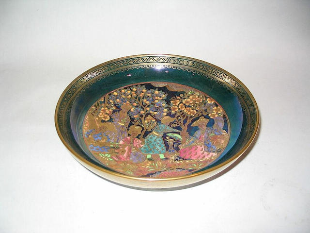 Daisy Makeig-Jones for Wedgwood, circa 1929 'Nizami' a Fairyland Lustre Bowl