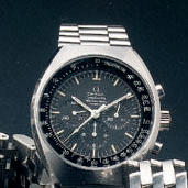 Omega A stainless steel chrongraph wristwatch'Speedmaster' Mark II, 1970s