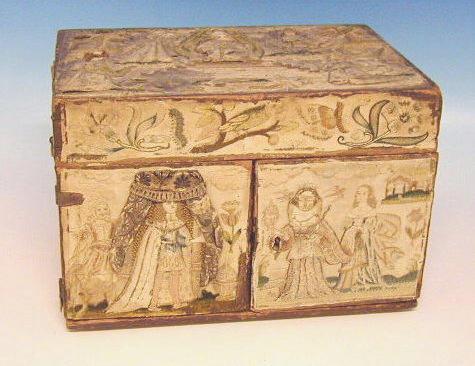 A raised-work box circa 1670,