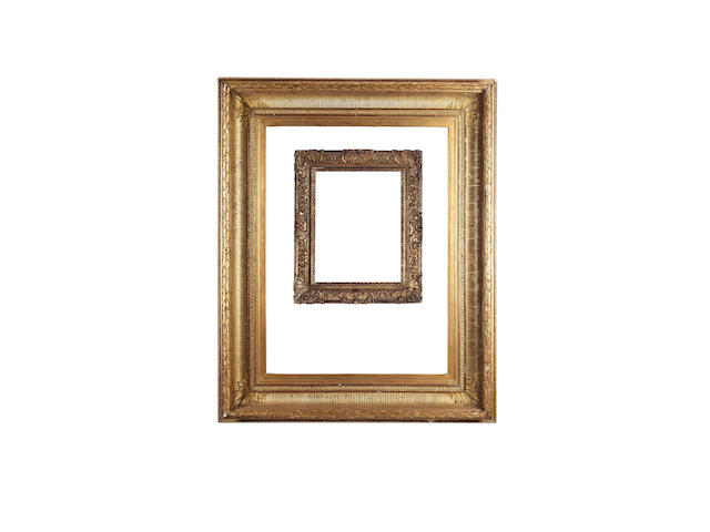 A French 19th Century gilded composition Empire frame,