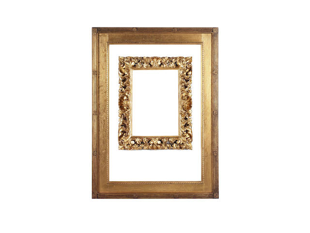 An English 19th Century carved and gilded oak 'Rossetti' frame,