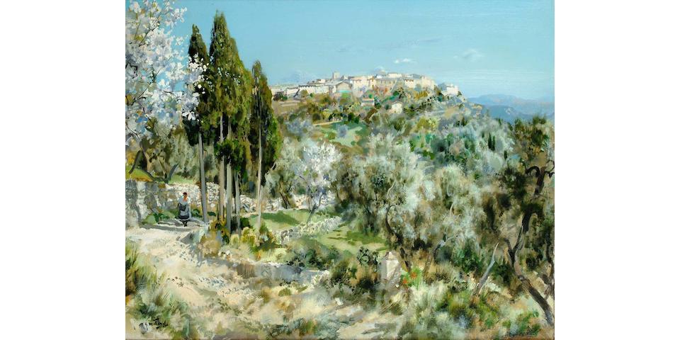 Gabriel Deschamps (French, b.1919) Vue de Provence 65 x 80.5 cm.