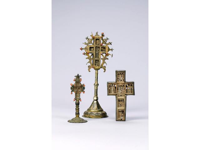 Three Mount Athos Crosses 18th Century 3