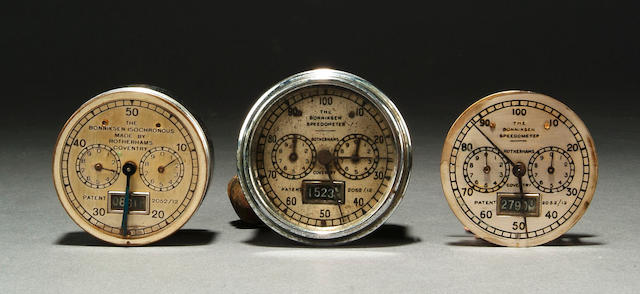three Bunnisker? speedometer instruments. NB ?? ?? and lists