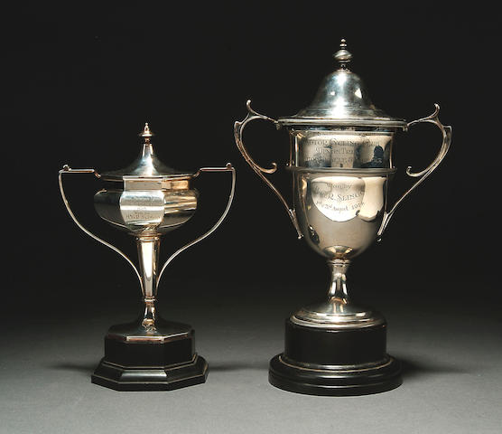 H. G. R. Slingo - Motor Cycling Club Devon Trial Motor Bicycle & Side Car twin handled silver trophy,
