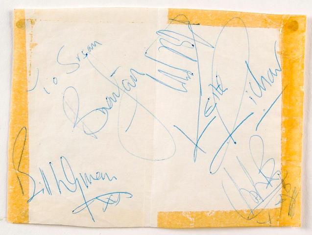 Autographs of The Rolling Stones March 4th 1964