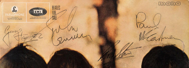 A 'Beatles For Sale' album autographed by John Lennon, Paul McCartney and Ringo Starr 1964-1965