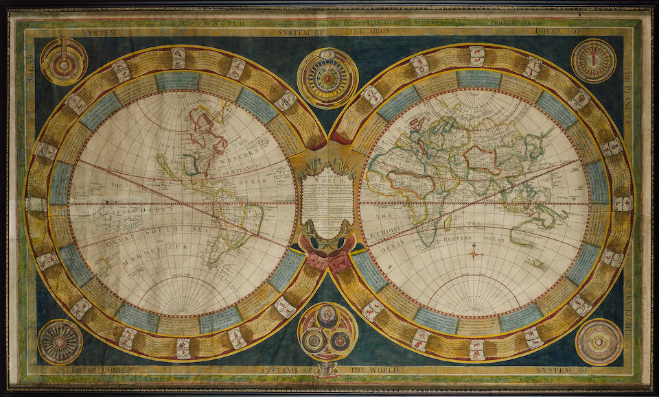 WORLD MARSHALL (RICHARD, publisher) A Curious Map of the World