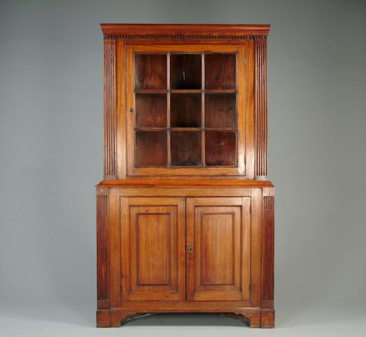 A George III mahogany corner cupbard