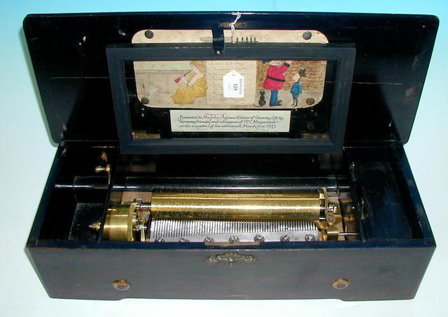 A musical box,