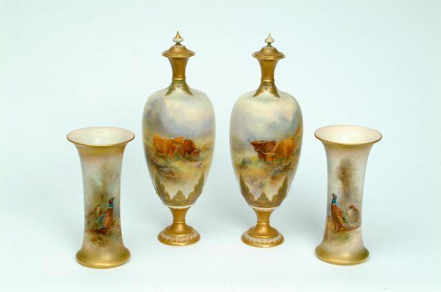 A pair Royal Worcester vases