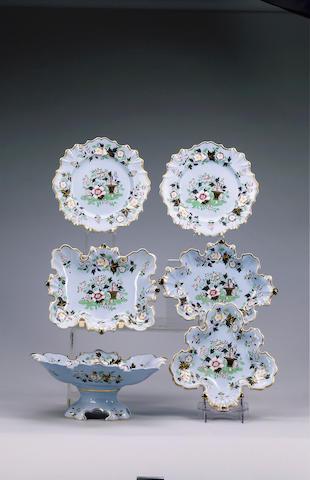 A William Ridgways dessert service, circa 1835-8,