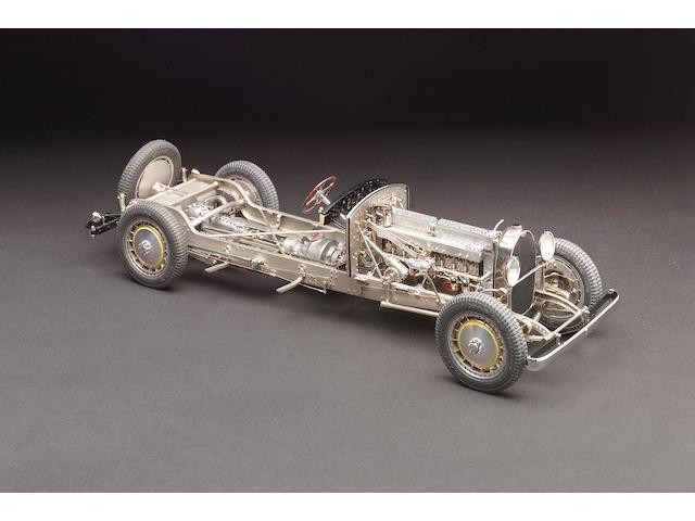 Chassis model 1/15th scale Bugatti type 41