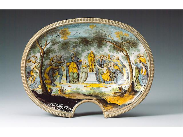 A rare Siena or Bassano barber's bowl circa 1730-40