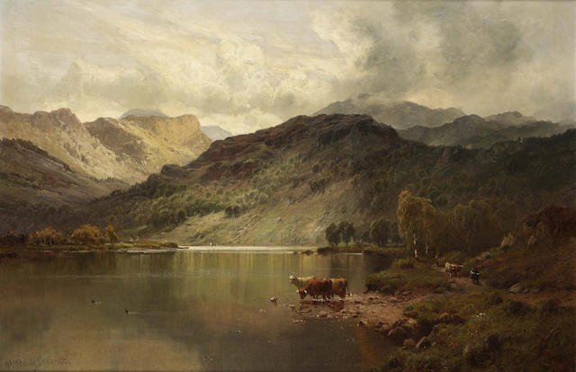 Alfred de Breanski, Snr (British 1852-1928) Perthshire valleys