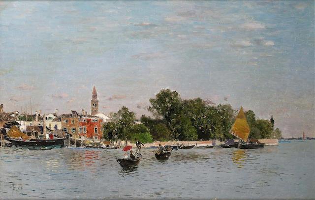 Martin Rico y Ortega (Spanish 1833-1908) The Public Gardens, Venice