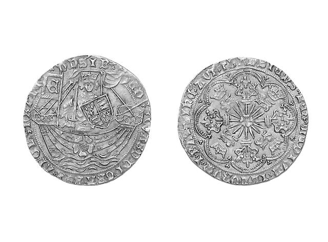 Edward IV (1461-1470),  Rose Noble, mm.crown (S.1900).
