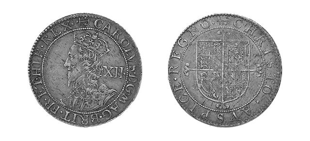 - Briot's second milled issue Shilling, mm.anchor and B, lozenge stops (S.2862A).