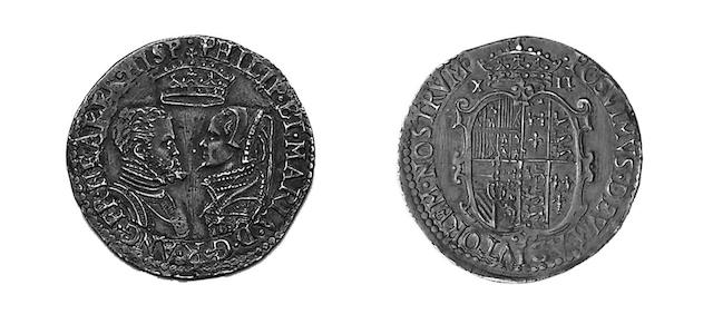 Phillip and Mary (1554-1558),  Shilling, undated with full titles and no mark of value (S.2498).