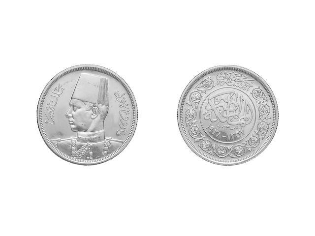 Egypt, 500 Piastres, Fu'ad 1, 1922 (KM.342).