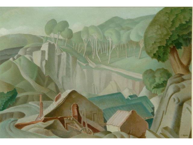 "Harry Epworth Allen R.B.A., P.S. (1894-1958) ""The Quarry"" 32.5 x 47.5cm"