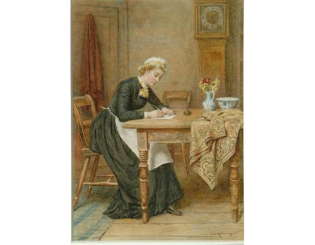 "George Goodwin Kilburne (1839-1924) ""Dear Mother"" 30 x 21cm"