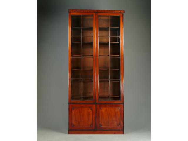 A pair of early 19th Century mahogany bookcases