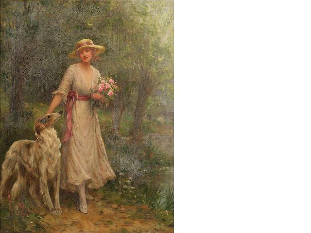 Sydney Percy Kendrick (British 1874-1955) A woodland walk