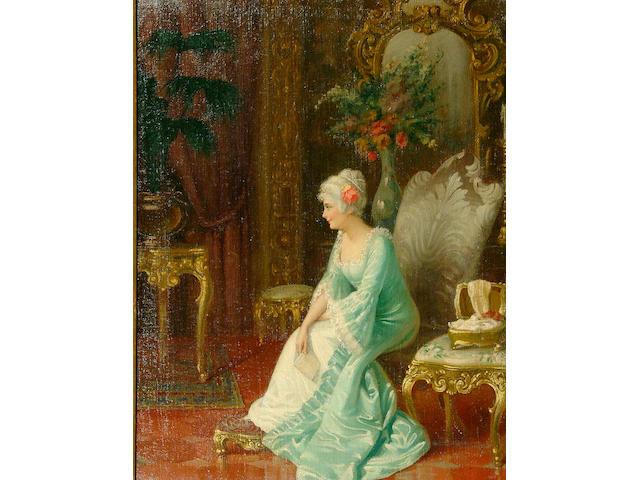 "A* * * Simonetti (19th Century) ""The Letter"" 64 x 49cm"