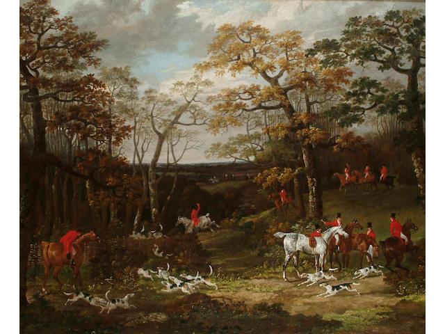 Dean Wolstenholme Snr. (British, 1757-1837) The Essex Hunt, 63.7 x 76.7cm.