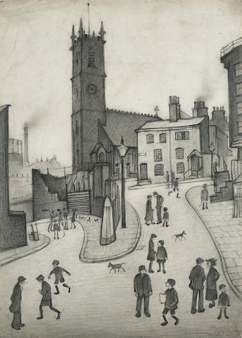 Laurence Stephen Lowry R.A. (1887-1976) St Michael's Church, Angel Meadow, Manchester