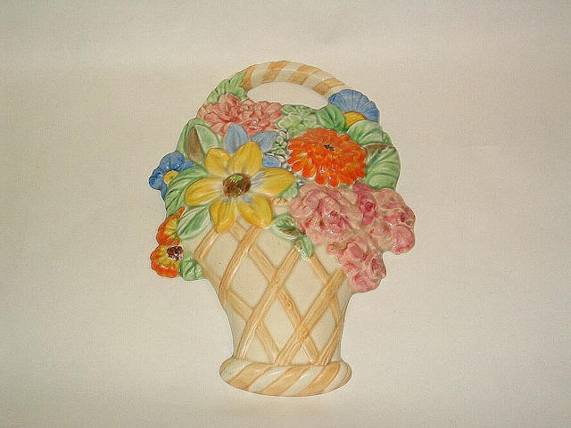 Beswick A Beswick Basket of Flowers Wall Plaque,