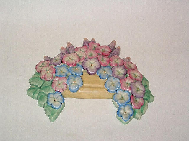 Beswick A Beswick Bowl of Flowers Wall Plaque,