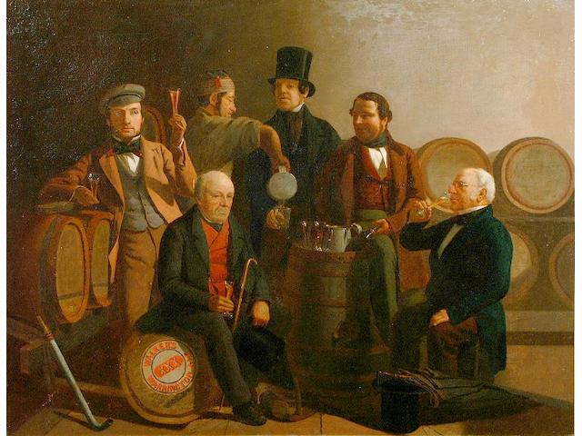 """John Davies (fl.1819-1853) """"The Ale Tasters"""" 71 x 91.5cm"""