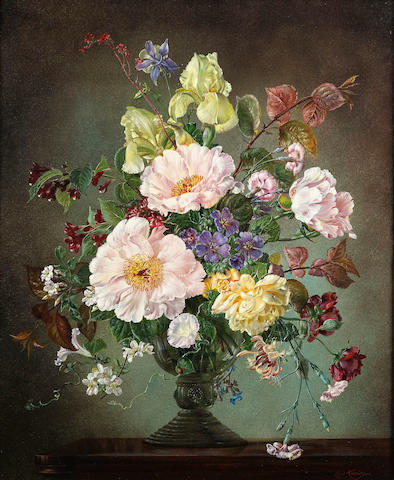 Cecil Kennedy (1905-1997) Still life of early summer flowers