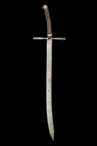 An Extremely Rare Sword ('Grosse-Messer' Or 'Kriegsmesser') Austrian, Late 15th Century